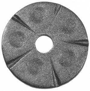Rosette aus Stahl Bild Metall-Markt-Schuhmann